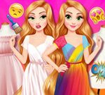 Princesses Outfit Coloring