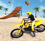 Racing Moto: Beach Jumping Simulator